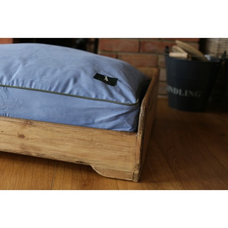 Personalised Rustic Wooden Dog Bed 5