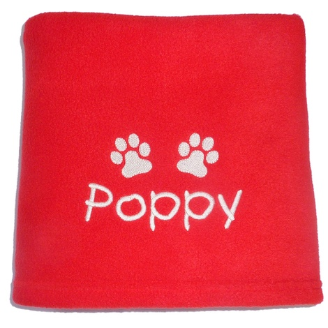 Personalised Fleece Blanket - Red