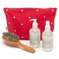 Cranberry Star Cotton Wash Bag