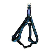 Hem & Boo - Tartan Adjustable Dog Harness - Blue