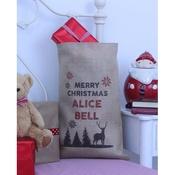 Handcrafted Christmas - Rudolph – Personalised Medium Christmas Sack
