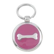 Tagiffany - Smarties Pink Bones Pet ID Tag