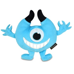 Blue Chomper Monster Plush Dog Toy