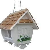 Garden Bazaar - Little Wren Feeder - White