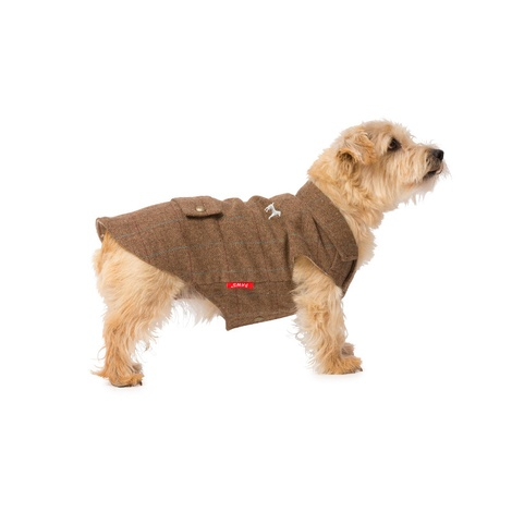 Tweed Dog Coat – Brown 2