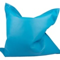 Leather Beanbag Cushion Dog Bed in Blue