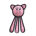 Dangles Pig Squeaky Dog Toy