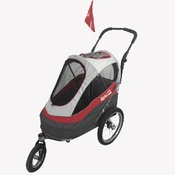 InnoPet - Red/Off White Sporty Dog Trailer DeLuxe