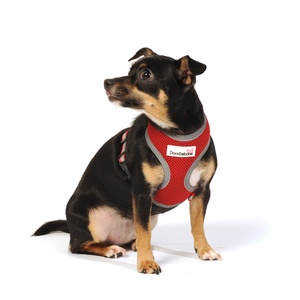 Reflective Airmesh Dog Harness – Red
