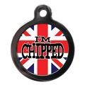 I'm Chipped Union Flag Pet ID Tag
