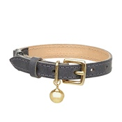 Cheshire & Wain - Leather Grey Cat Collar