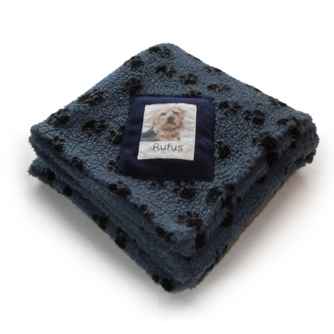 Harbour Paw Print Personalised Blanket