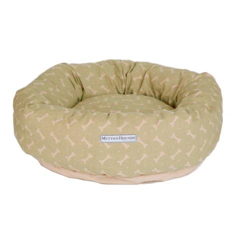 Sage Bone Linen Donut Bed 2