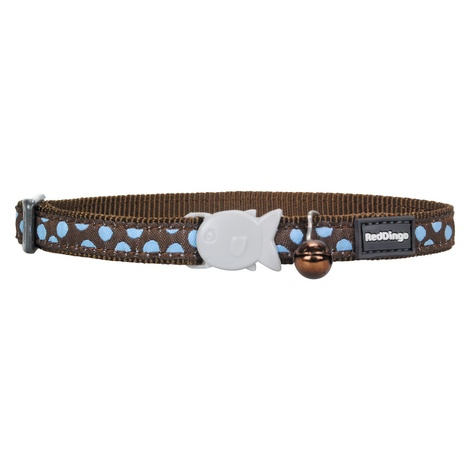 Blue Spots on Brown Cat Collar