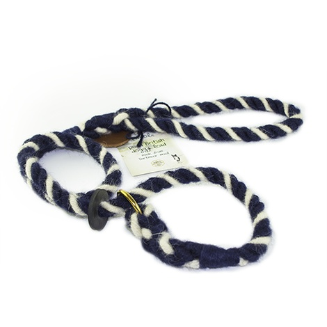Rope Slip Lead - Wavy Navy