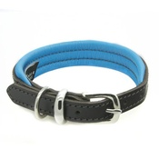 Dogs & Horses - D&H Colours Leather Collar - Blue