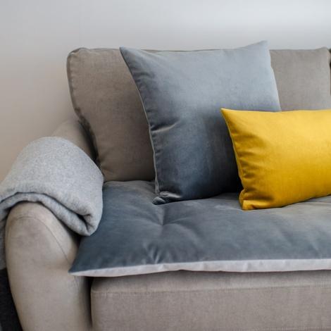 Velvet Scatter Cushion - Turmeric 2