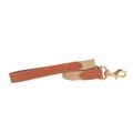 """The Richmond"" Webbing & Leather Tan Lead"