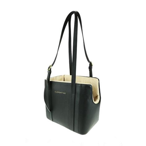 Leather Dog Bag – Black