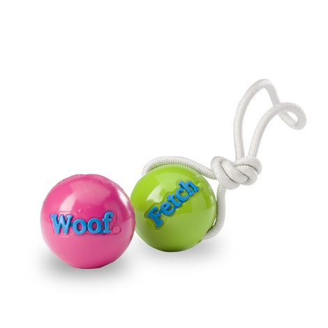 Orbee-Tuff FETCH Ball with Rope - Green 2