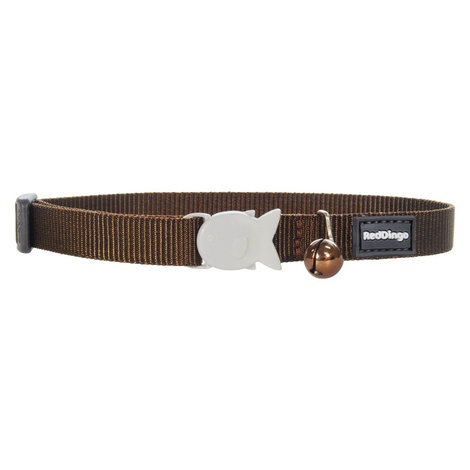 Plain Brown Cat Collar