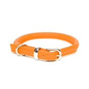 Dogs & Horses - D&H Rolled Leather Collar - Orange