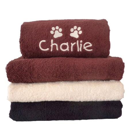 Personalised Pet Towel - Chocolate  2