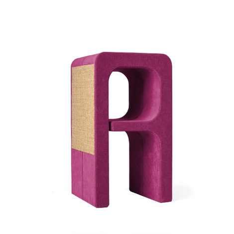 Scratching Post - Letter A - Pink