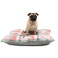 Macaroon Check Pillow Dog Bed