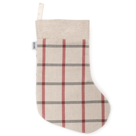 Nottingham Check with linen Christmas Stockings 2