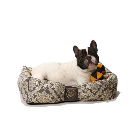 Chien Parisien Dog Bed – Slate Grey & Gold