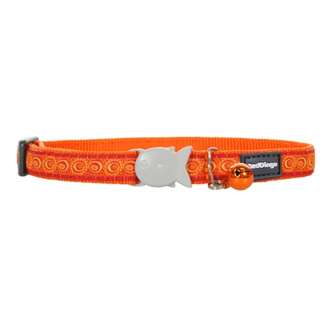 Orange Cosmos Cat Collar