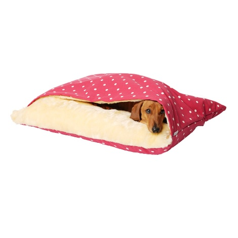 Snuggle Bed - Dotty Raspberry