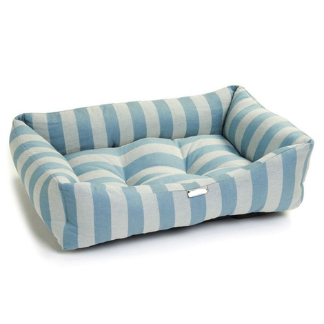 Blue Stripe Dog Bed