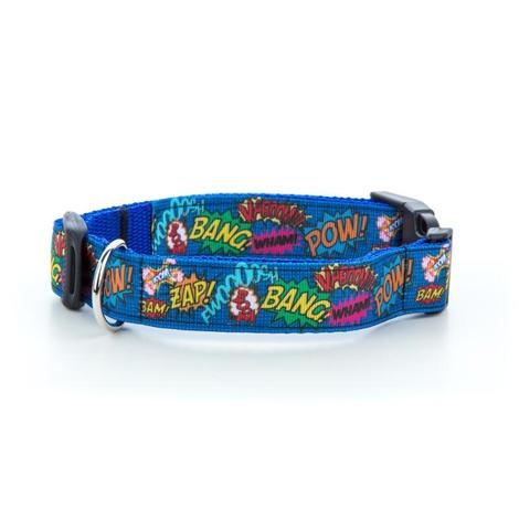 "Pow! Cartoon Collar - Blue  1"" Width 2"
