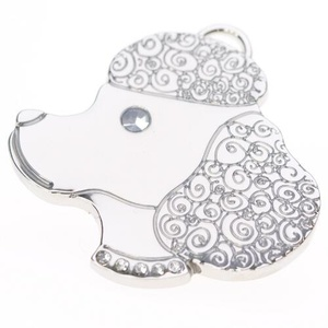 Silver Poodle Tag