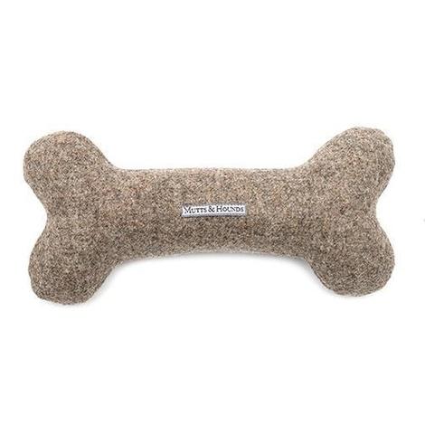 Grey Tweed Squeaky Bone Toy 5