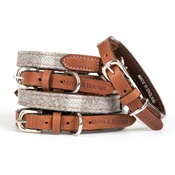 Mutts & Hounds - Slate Tweed Dog Collar