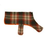 PetsPyjamas - Personalised Brown & Orange Check Dog Coat