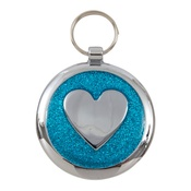 Tagiffany - Shimmer Azure Blue Heart Pet ID Tag