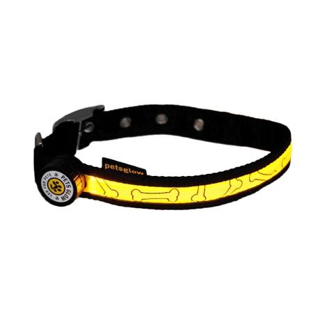 Glitter Bone LED Dog Collar 2