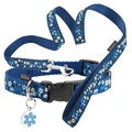 Blue Flower Collar & Lead Set