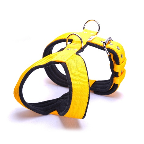 2.5cm Width Fleece Comfort Dog Harness – Yellow
