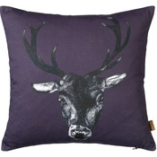 Lisa Bliss - Stag Cushion in Plum