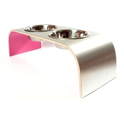 Lola and Daisy - Pink Aluminium Pet Feeder