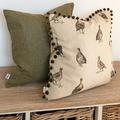 Forest Green Tweed Cushion  2