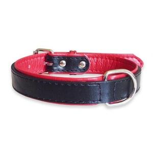Fusion Black Leather Dog Collar
