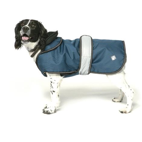 Navy Reflective Dog Coat