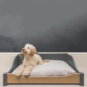 LUXURY WOODEN DOG BED - LARGE