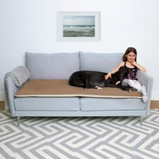 The Lounging Hound - Wool Sofa Topper - Camel